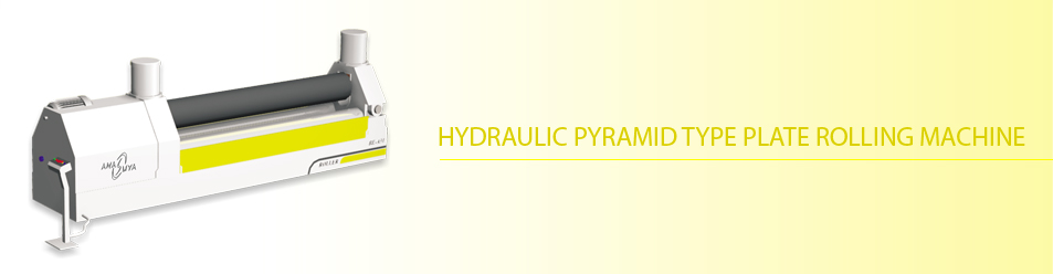 Hydraulic pyramid type plate rolling machine